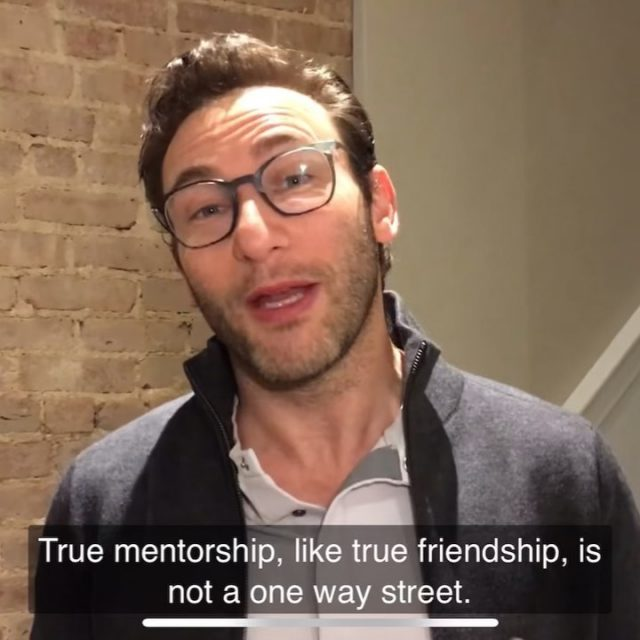 """True mentorship, like true friendship, is not a one way street."" - Simon Sinek  #mentorship #simonsinek #mentoring #iseekme #mentorshipmatters #friendship"